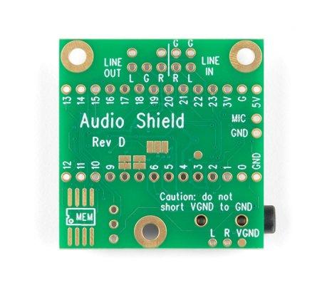 Teensy 4 Shield Audio Rev D