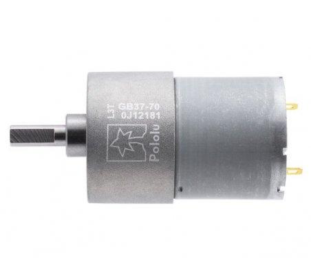 Metal Gearmotor - 70:1 - 37Dx54L mm | Motor DC com Engrenagens |