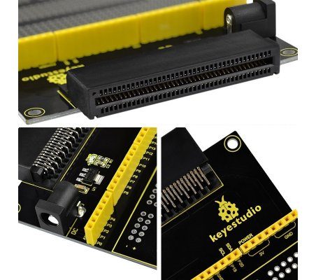 Placa Breakout com Breadboard para Micro:bit V2 Keyestudio