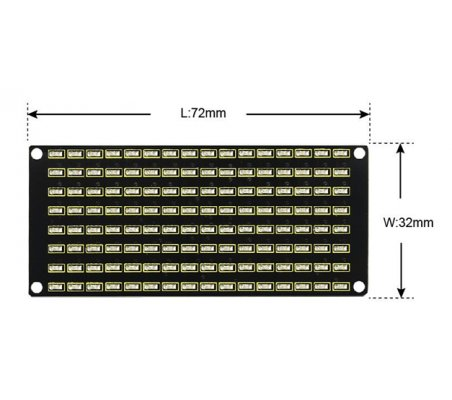 Painel de Matriz LED 8x16 Keyestudio