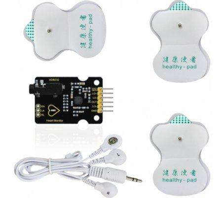 Kit Medição de Batimentos Cardíacos ECG AD8232 Keyestudio