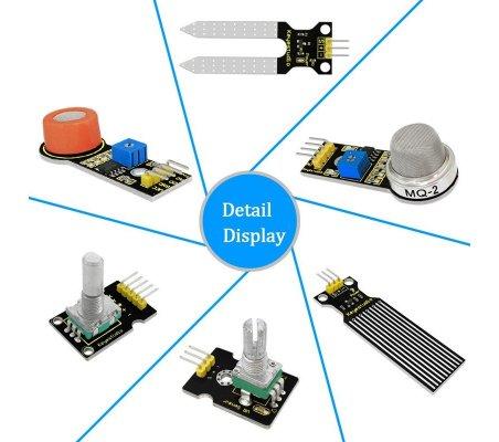 Kit de 30 Sensores com Arduino Mega 2560 Keyestudio