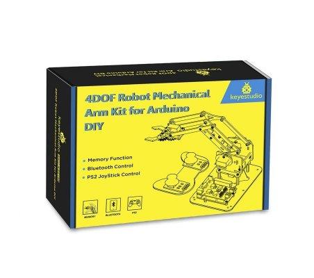 Kit de Braço Robótico 4DOF DIY para Arduino Keyestudio