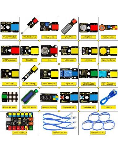 Kit de Iniciação STEM EDU para Arduino com Ligação Easy Keyestudio