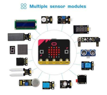 Kit de Iniciação Avançado para Micro:bit Keyestudio