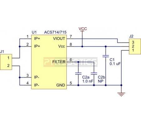ACS714 Current Sensor Carrier -30 to +30A
