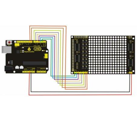 Kit Matriz LED 16x16 Keyestudio