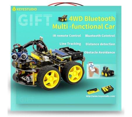 Carro Multi-funções Bluetooth 4WD Keyestudio