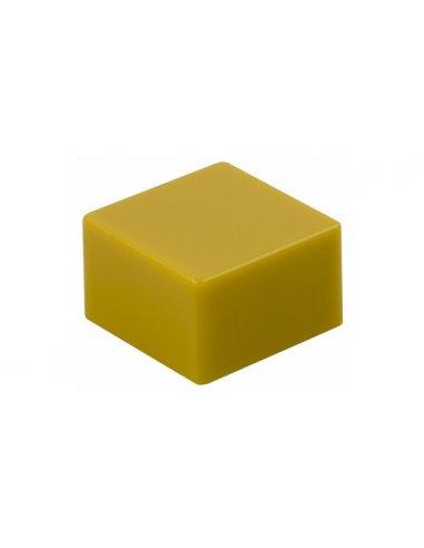 Tecla Quadrada para Interruptor de Pressão 9x9mm - Amarela