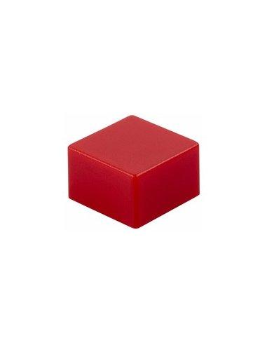 Tecla Quadrada para Interruptor de Pressão 9x9mm - Vermelha | Push Button |