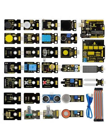 Kit de 30 Sensores com Arduino Uno Keyestudio