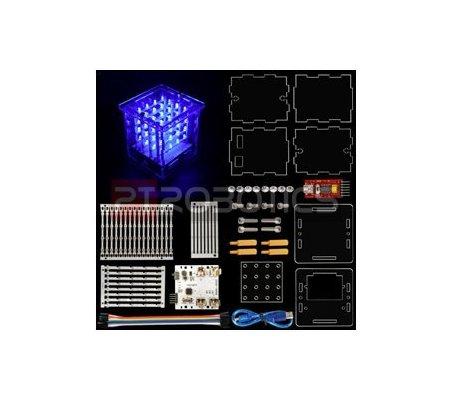 Kit Cubo LED 4x4x4 para Arduino Uno Keyestudio