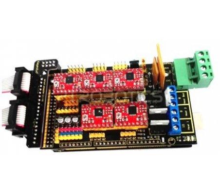 Kit para Impressão 3D com Ramps 1.4, Arduino Mega 2560, Drivers A4988 (x5) e LCD 12864 com Controlador Keyestudio | Keyestudio |