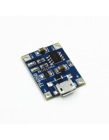 Módulo Carregador de Baterias de Lítio TP4056 - MicroUSB