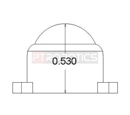 Ball Caster Metal - 1/2   Casters  