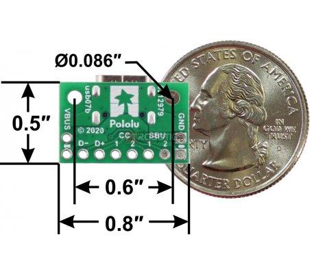 Placa Breakout USB 2.0 Tipo C Fêmea (usb07b)   Ficha USB  