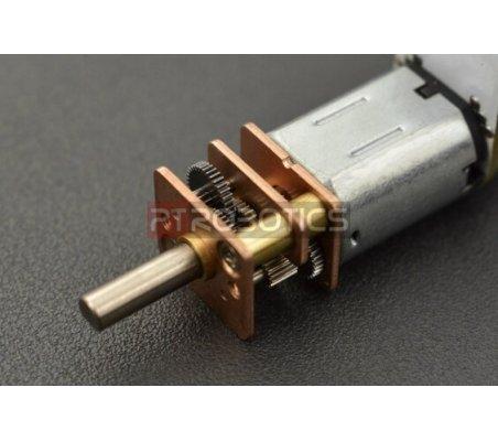 Micro Motor com Encoder e Caixa Redutora 210:1 - 6V 75RPM   Motor DC com Engrenagens  