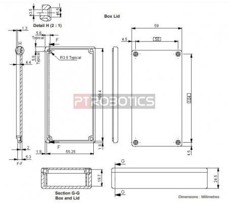 ABS Enclosure 113x59x24mm - Black
