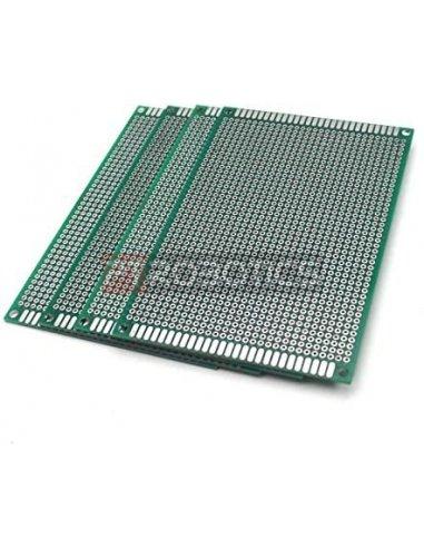 PCB Universal para Prototipagem de Dupla Face 8x12cm | PCB |