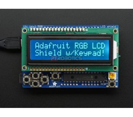 Shield LCD RGB com Display Alfanumérico 16x2 - Negativo   LCD Alfanumerico  