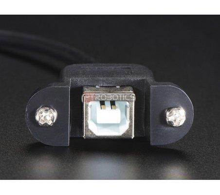 Cabo de Montagem em Painel - USB B Fêmea para Micro-B USB Macho | Cabos de Dados | Cabo HDMI | Cabo USB |
