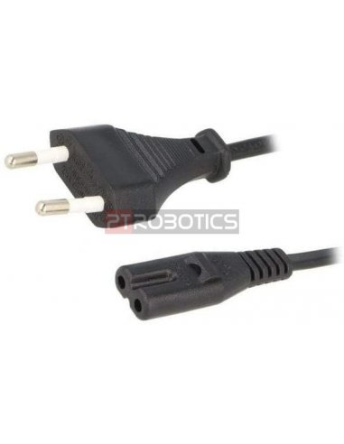 Cabo IEC 60320 C7 1.2m 250V 2.5A