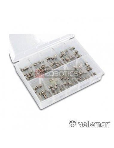 Caixa100x Fusíveis de Vidro Rápidos 5x20mm Velleman K/FF