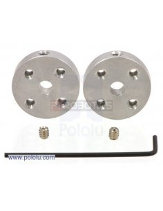 Universal Aluminum Mounting Hub for 4mm Shaft Pair, 4-40 Holes