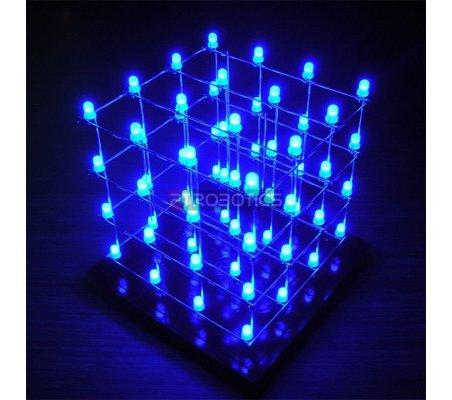 Kit Cubo LED 4x4x4 - Azul | Indicadores Led |