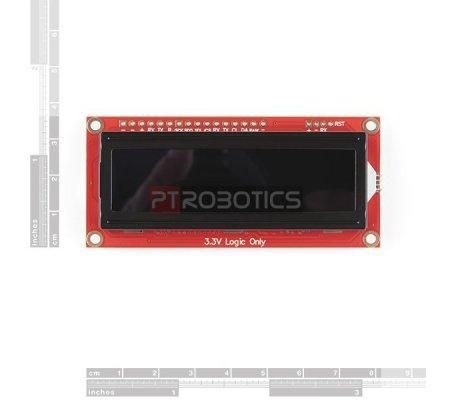 LCD 16x2 Interface Serie I2C SPI Qwiic com texto RGB - SparkFun | LCD Alfanumerico |