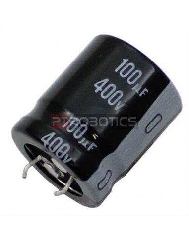 Condensador Electrolitico 100uF 400V 105ºC   Condensador Electroliticos  