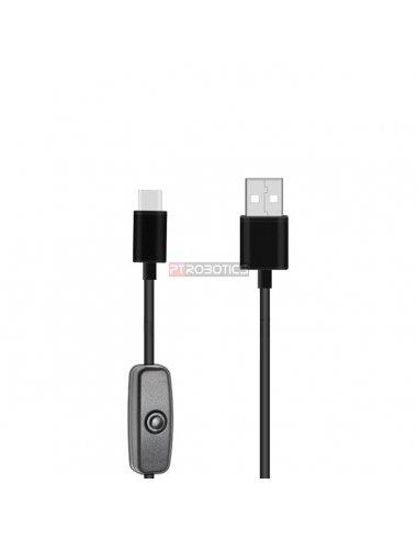 Cabo USB C para USB A com Interruptor On/Off   Cabos e adaptadores  