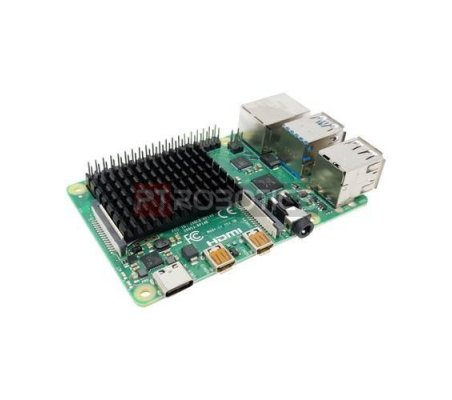 Dissipador XL para Raspberry Pi 4 - Preto | Varios - Raspberry Pi |