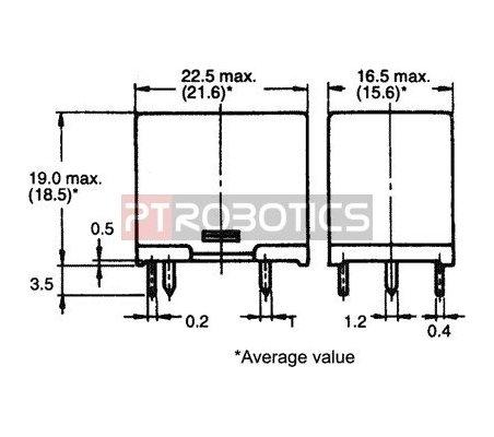 Relé SPDT 5V 10A - Omron G5LE-1-36-5 | Relés |