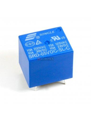 Relé 5V - Songle SRD-05VDC-SL-C | Relés |