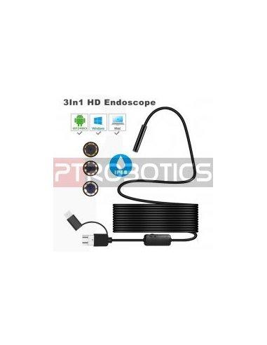 USB Waterproof Endoscope Camera with P2P - 5m | Sensor Camera |