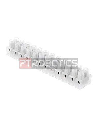 Bloco Terminal Parafusado 12P 250V 2.5mm² - Fêmea   Terminal Blocks  