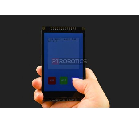 "LCD TFT 3.5"" 480x320 Capacitivo com Touchscreen e Slot MicroSD   LCD Grafico  "