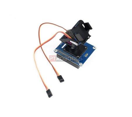 HAT Pan-Tilt de 2 eixos para Raspberry Pi | HAT | Placas de Expansão Raspberry Pi |