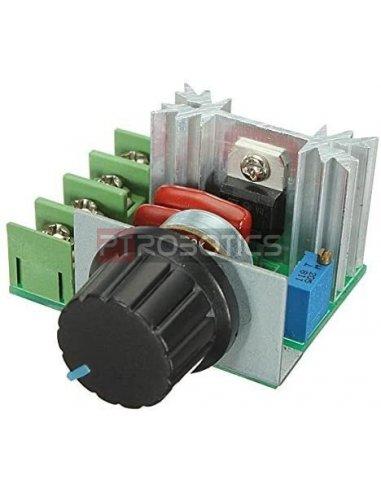Regulador de Velocidade e Voltagem para Motor AC - PWM 2000W 50V-230V