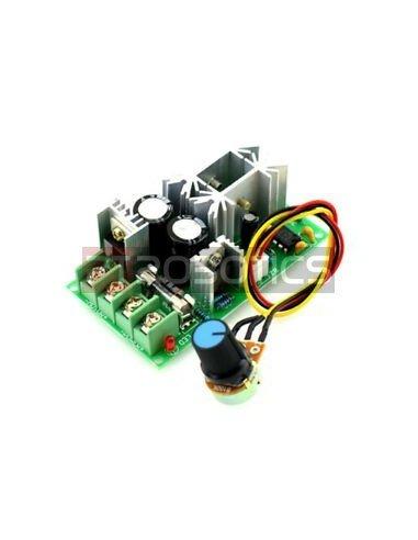 Regulador de Velocidade e Voltagem para Motor DC - PWM 10V-60V 20A | Reguladores |