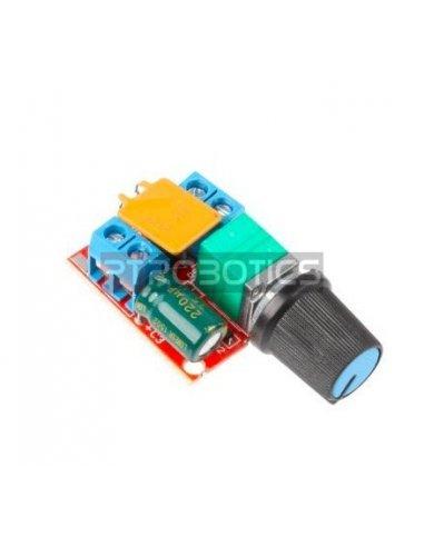 Regulador de Velocidade e Voltagem para Motor DC - PWM 3V-35V 5A - LED Dimmer