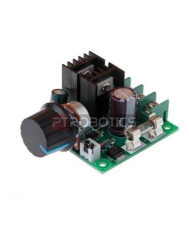 Regulador de Velocidade e Voltagem para Motor DC - PWM 9V-50V 10A