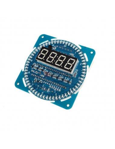 Kit de Relógio Digital DS1302 com Rotação em Led