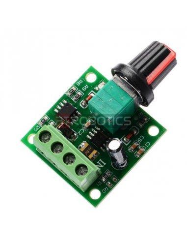 Regulador de Velocidade e Voltagem para Motor DC - PWM 1.8V 3V 5V 6V 12V 2A | Reguladores |
