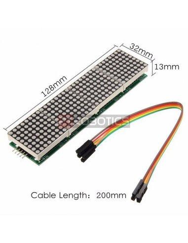 Módulo Matriz MAX7219 4 em 1 para Arduino - Verde