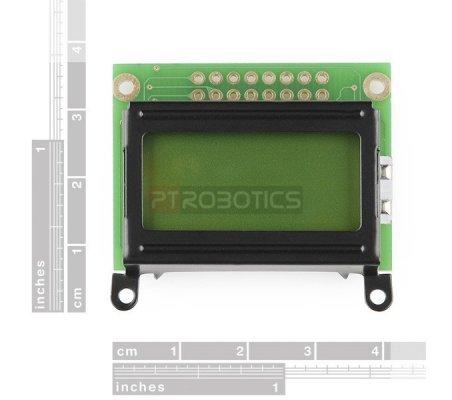 8x2 Character LCD - Black on Verde 5V