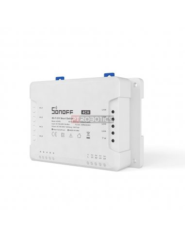 SONOFF Interruptor Inteligente WiFi com 4 Canais e Controlo RF 4CHR3