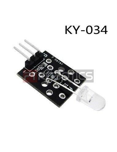 Módulo Sensor de Leds Intermitentes - 7 Cores - KY-034