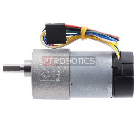 Motor 50:1 com Caixa Redutora e Encoder 64 CPR